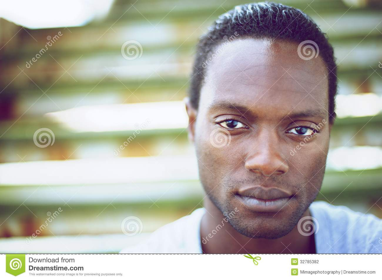 3f3b06b15f71 Portrait Of A Handsome Black Man Looking At Camera Stock Photo ...