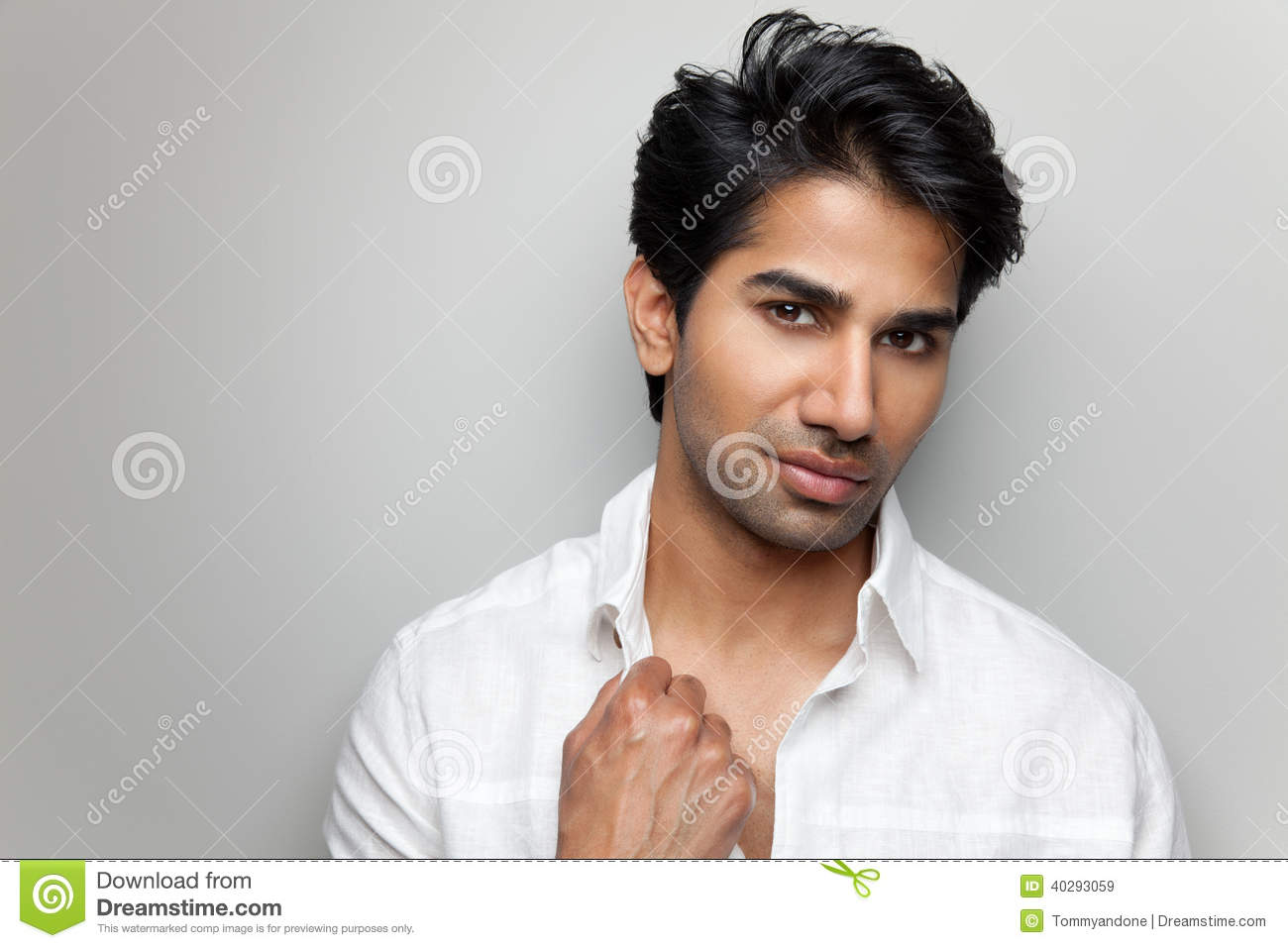 Portrait Of A Handsome Indian Man Stock Photo - Image ...