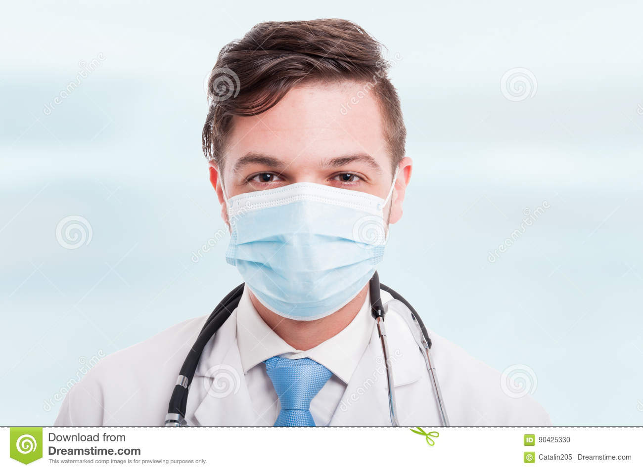 Doctor Stock Photo Handsome - Mask Of Male With Portrait Image