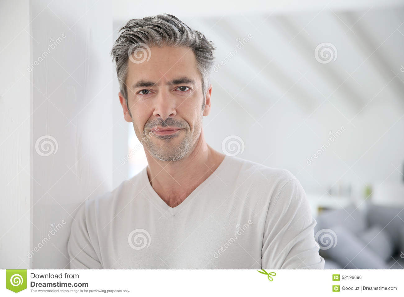 Picture of handsome 50 year old man
