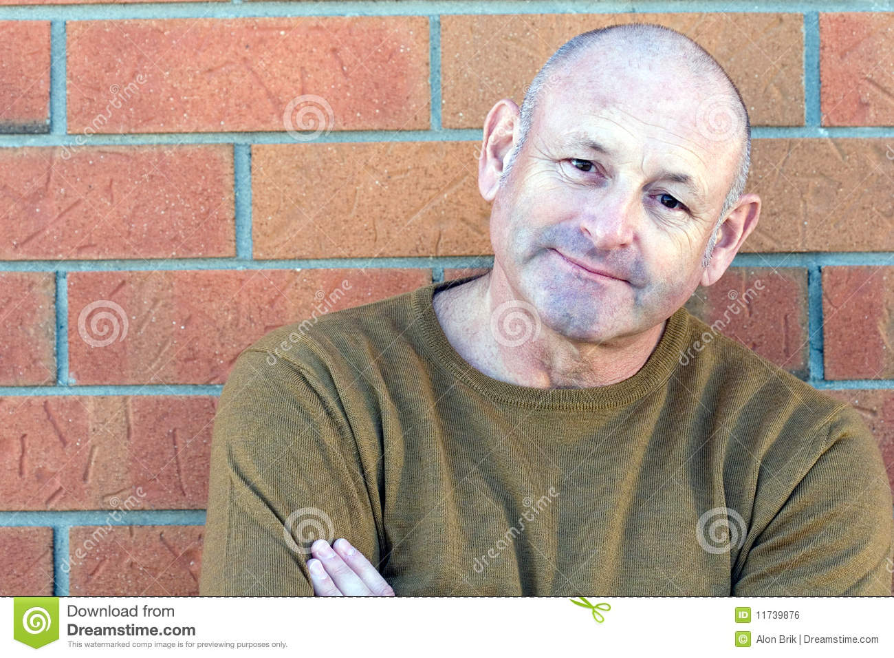 Portrait Of A Handsome Middle Aged Man