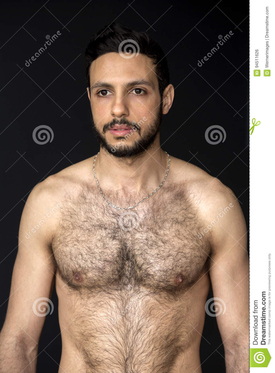 Adult hairy man
