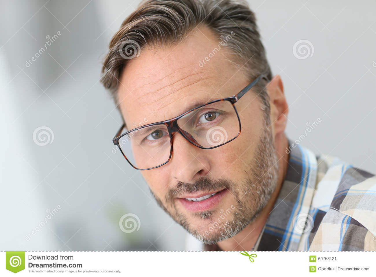 d55b8224971 Portrait Of Handsome Young Man Wearing Eyeglasses Stock Image ...