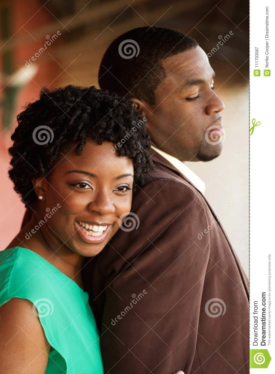 Download Portrait Of An African American Loving Couple. Stock Image - Image of cheerful, couple: 111703587