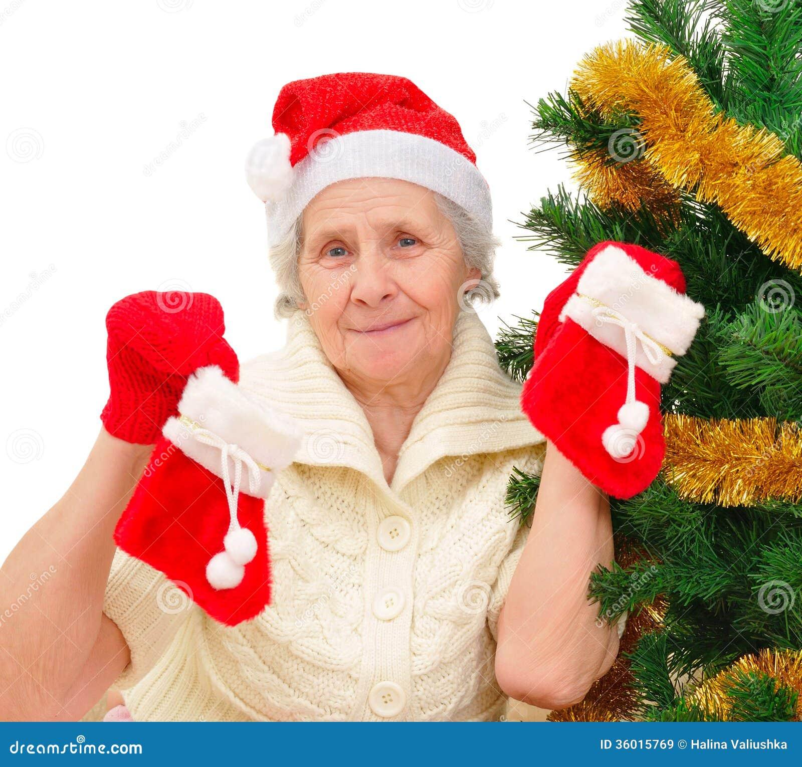A happy christmas time at grandmas house