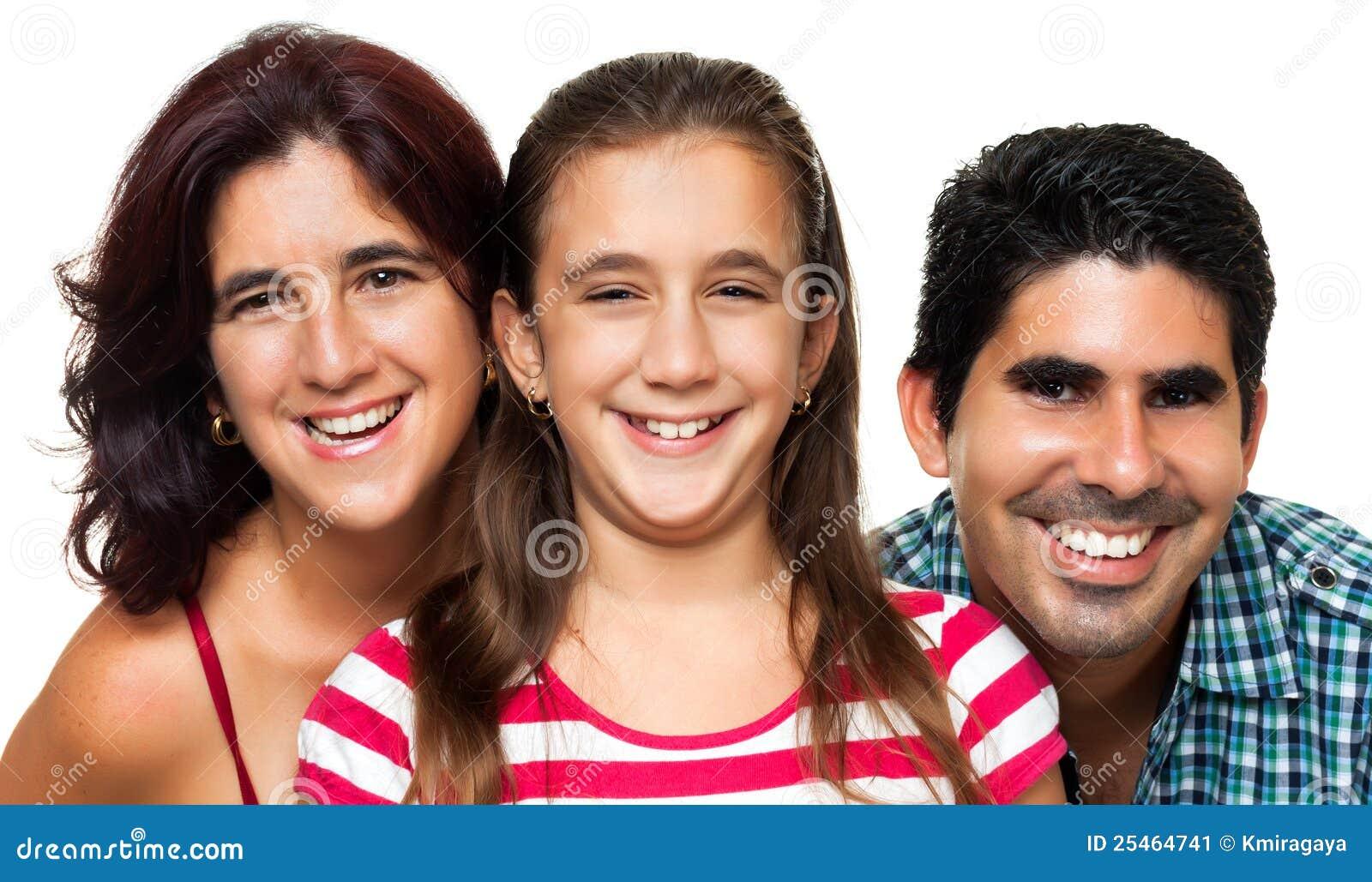 Portrait of a happy hispanic family
