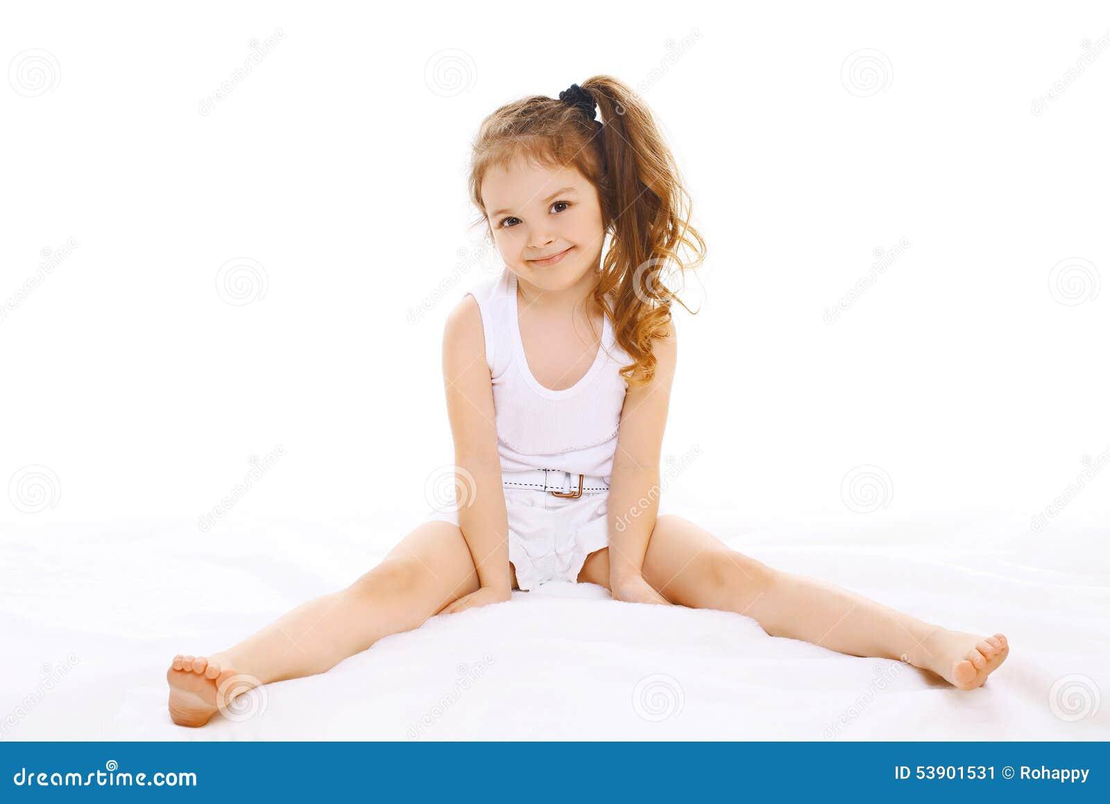Portrait Of Happy Little Girl Child Stock Photo Image 53901531