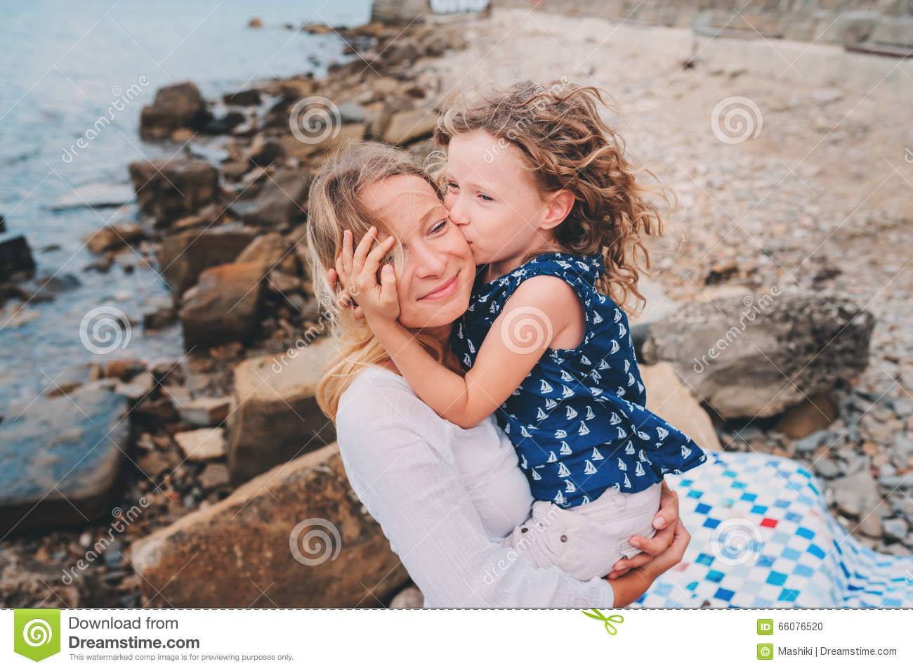 Portrait Of Happy Mother And Daughter Spending Time