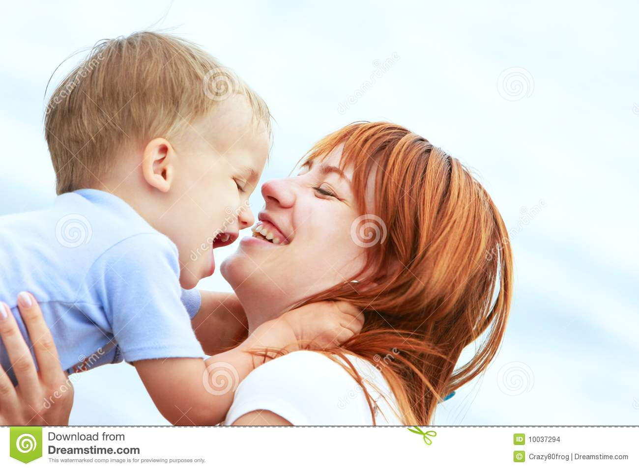 portrait of happy mother and son stock images image 10037294. Black Bedroom Furniture Sets. Home Design Ideas