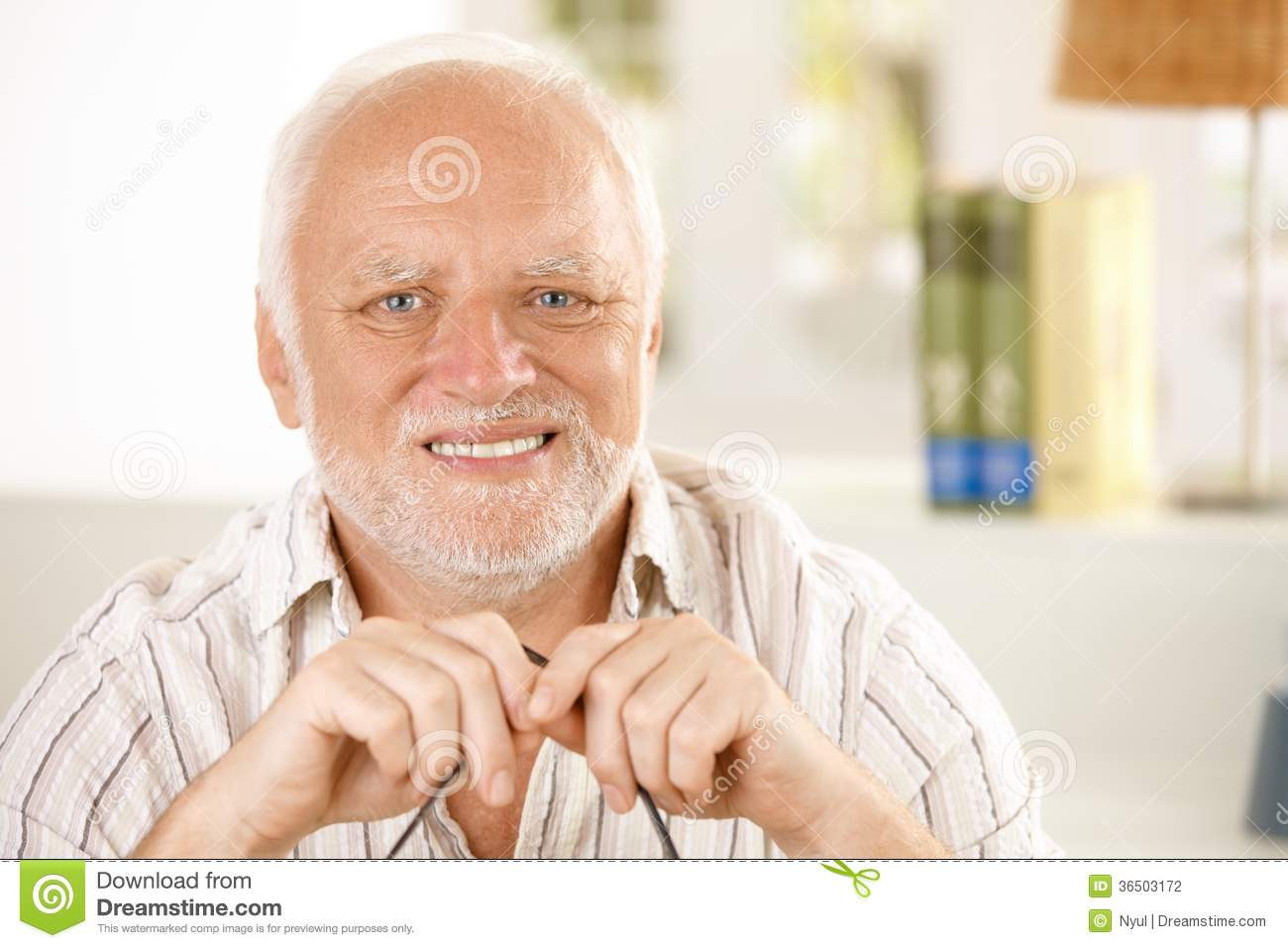 Portrait Of Happy Old Man Stock Photography - Image: 36503172