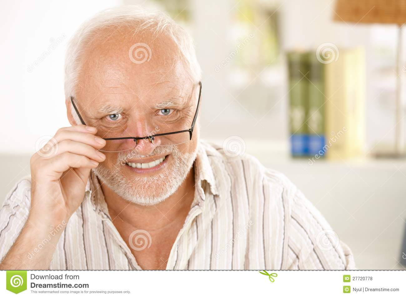 Download Portrait Of Happy Older Man Wearing Glasses Stock Photo - Image of european, lifestyle: 27720778