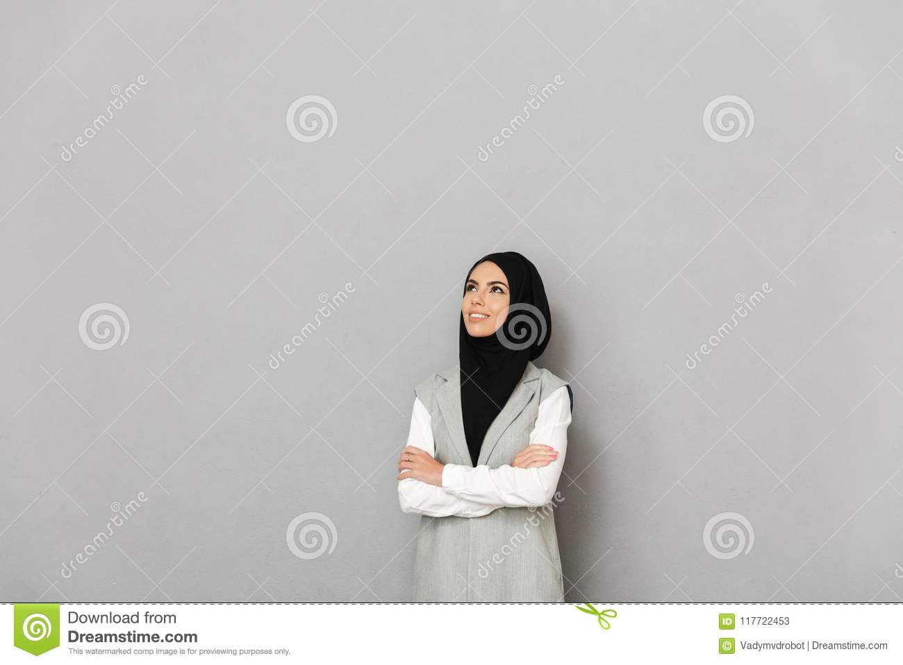 Portrait of a happy young arabian woman