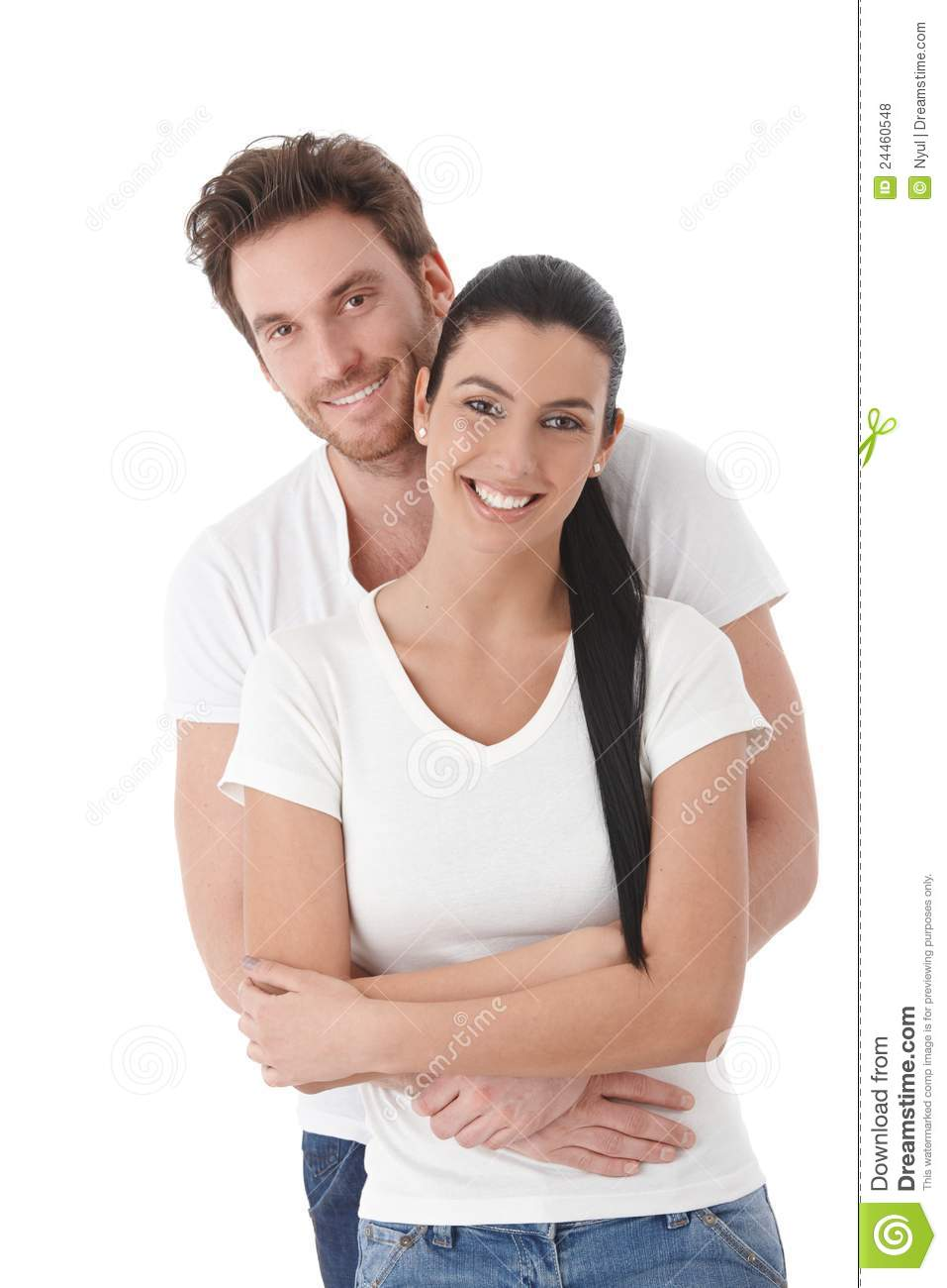 Young Happy Smiling African American Black Teen Girl With: Portrait Of Happy Young Couple Smiling Stock Photo