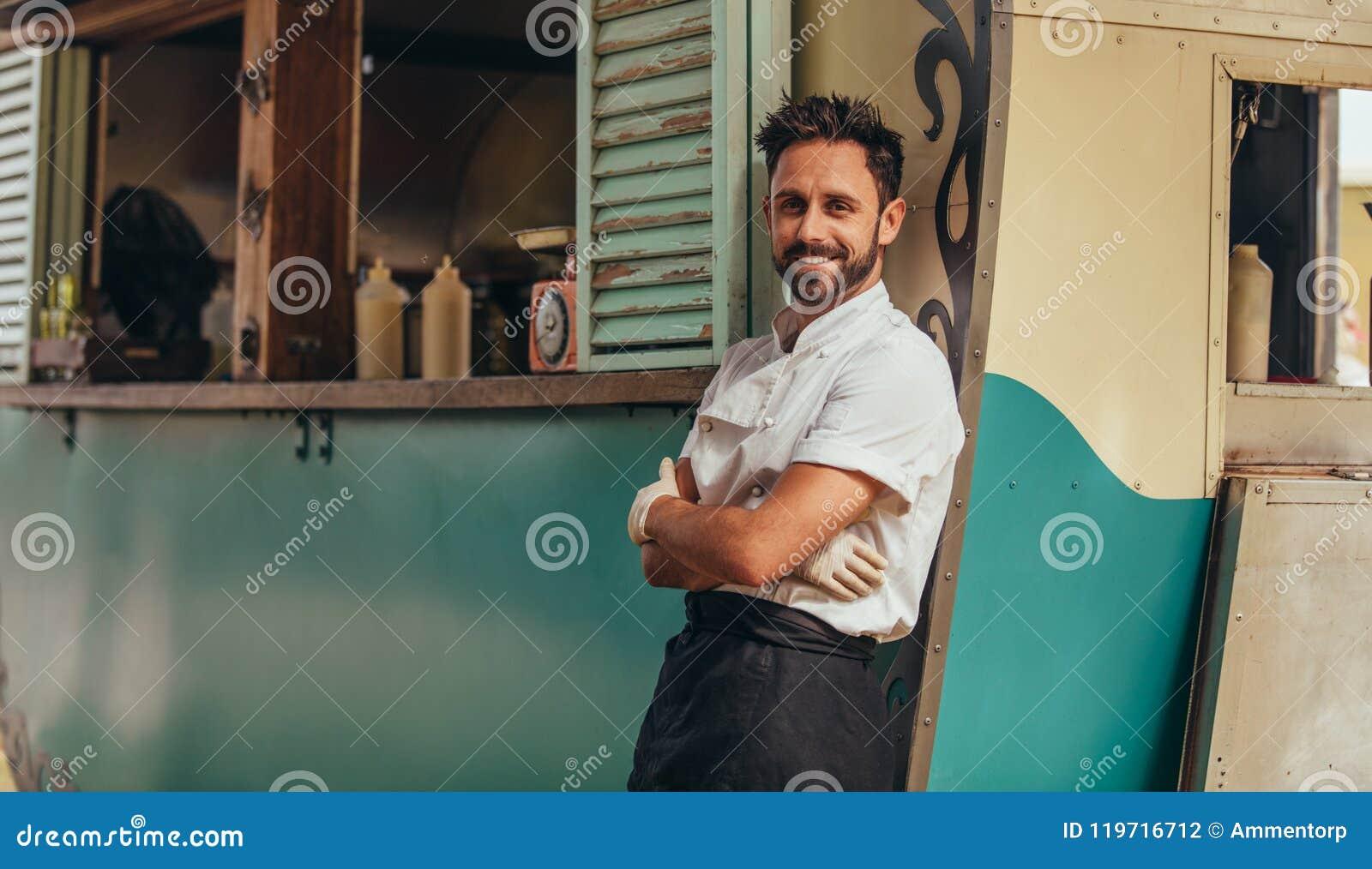 Proud food truck owner