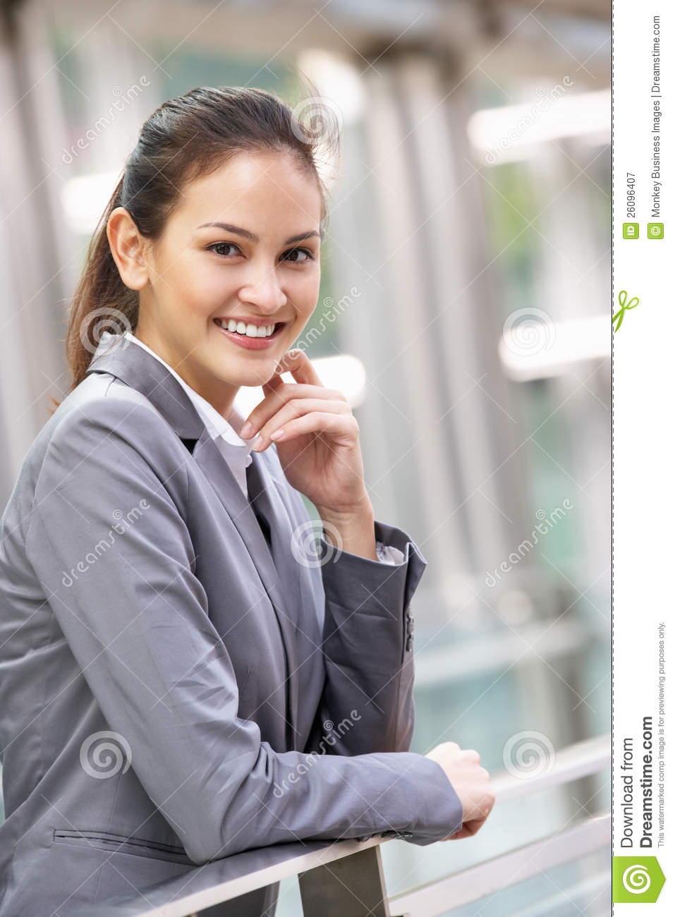 Portrait of hispanic businesswoman outside office royalty free stock photography image 26096407 - Office portrait photography ...