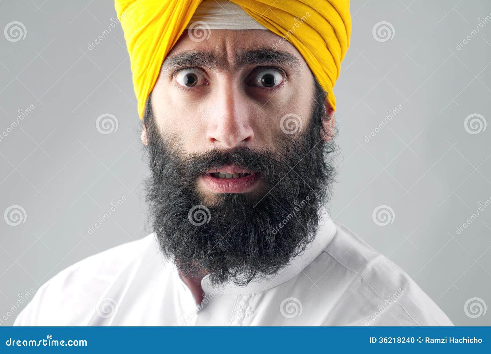 portrait of indian sikh man with bushy beard stock photo image 36218240. Black Bedroom Furniture Sets. Home Design Ideas