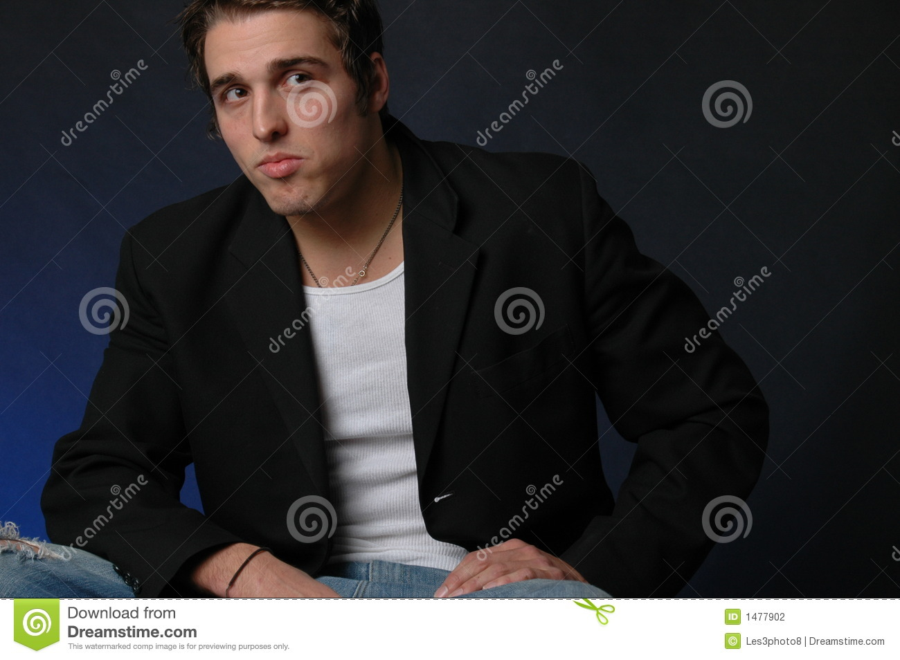 Italian American: Portrait Of An Italian American Male Stock Photography