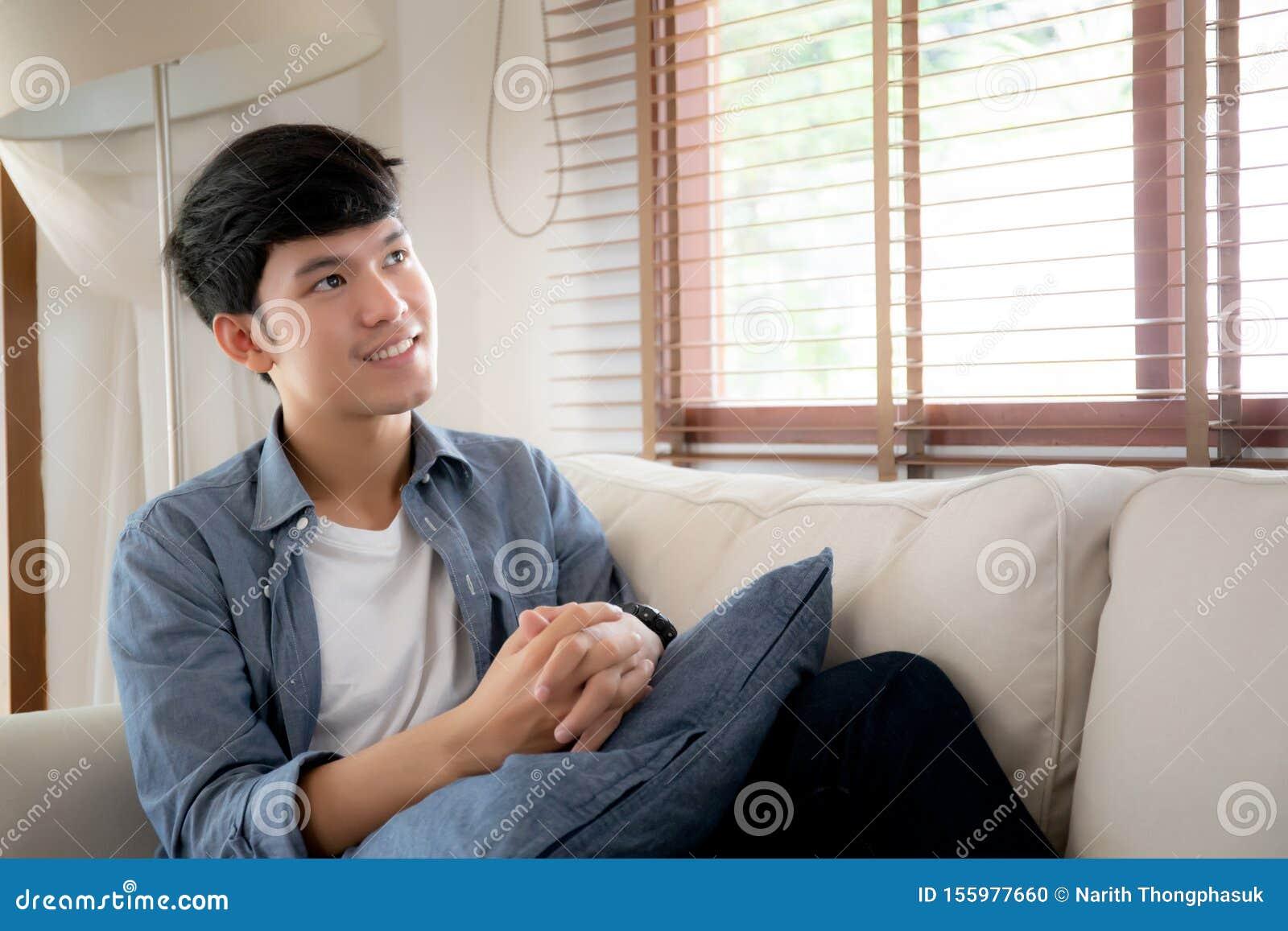 Portrait Junge, Gut Aussehende Asianinnen, Die Sich