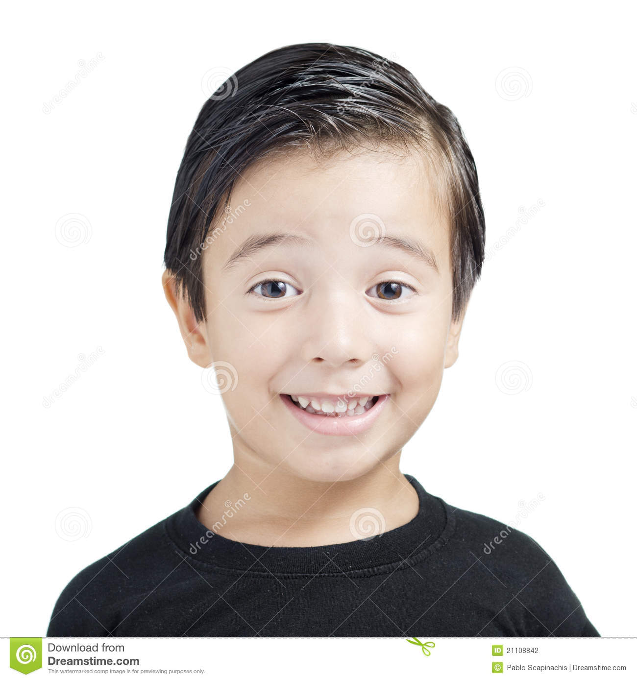 Portrait of kid smiling