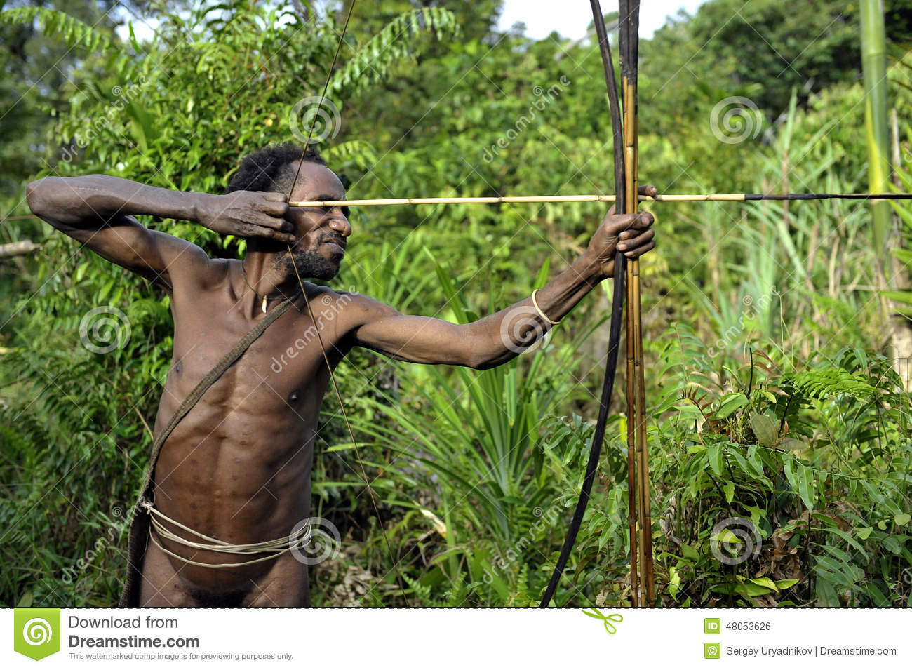 ONNI VILLAGE, NEW GUINEA, INDONESIA - JUNE 23: The Portrait Korowai ...