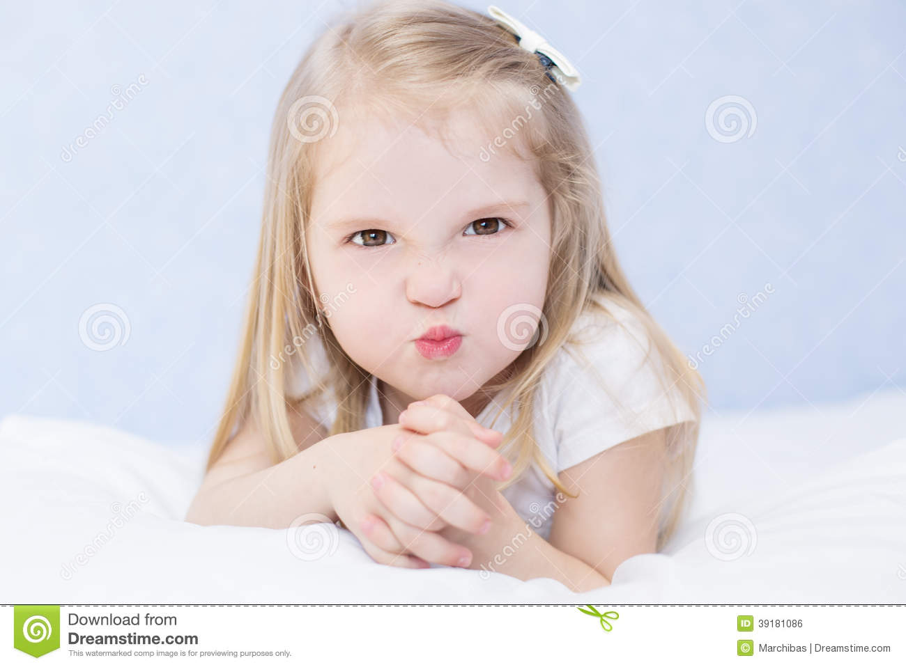 Portrait Of Little Angry Girl Stock Photo - Image: 39181086