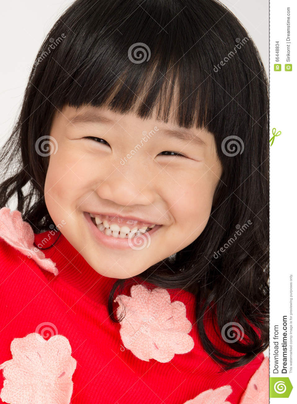 2c1277f095f Portrait Of Little Asian Girl With Smiles Face Stock Photo - Image ...