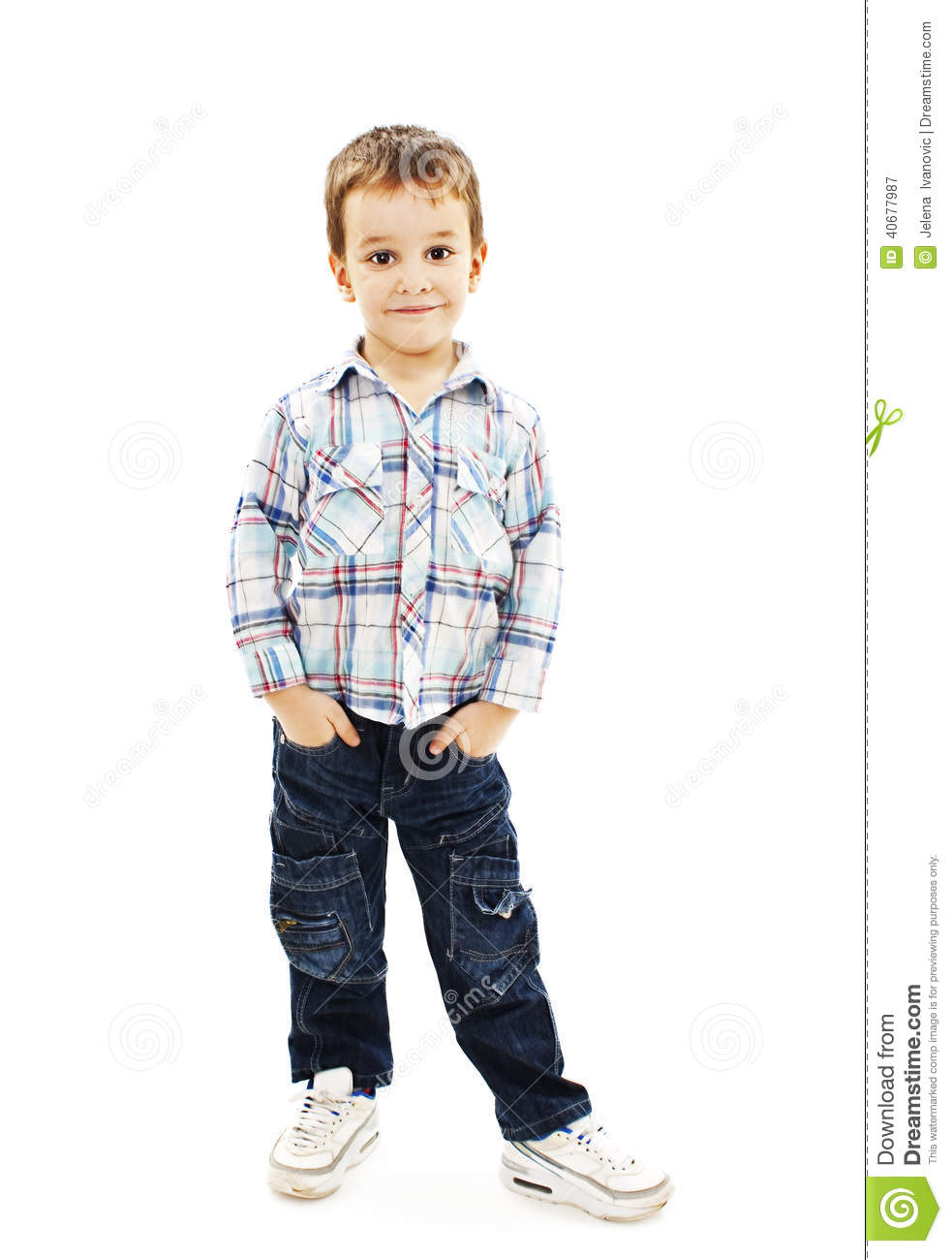4 Year Boy Bedroom Decorating Ideas: Portrait Of Little Boy With Hands In Pockets Stock Photo