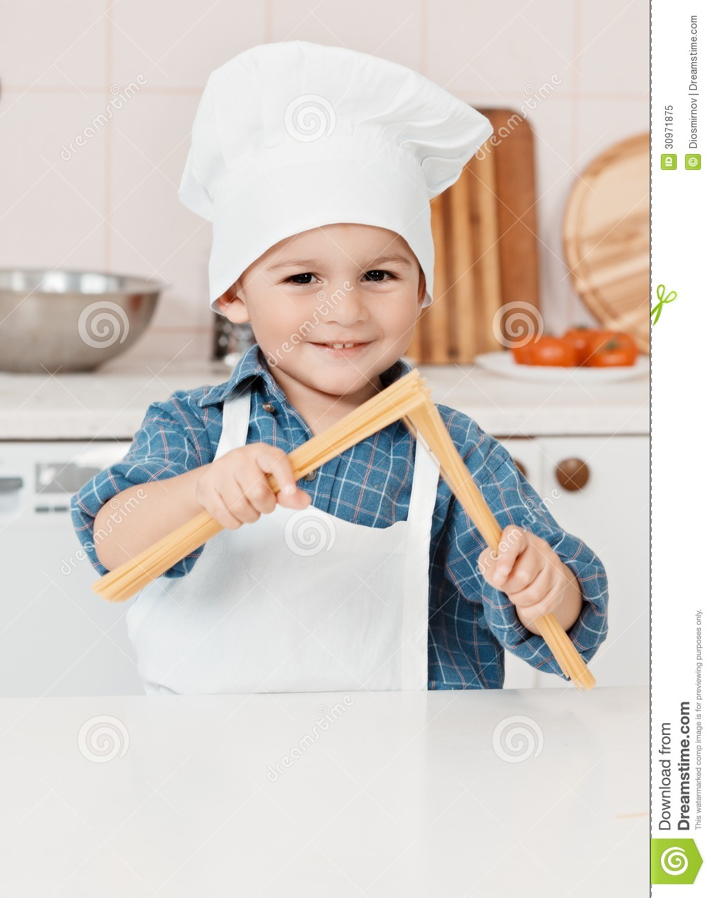 c35d97eb540 Portrait Of A Little Chef Hat And Apron Stock Image - Image of baker ...