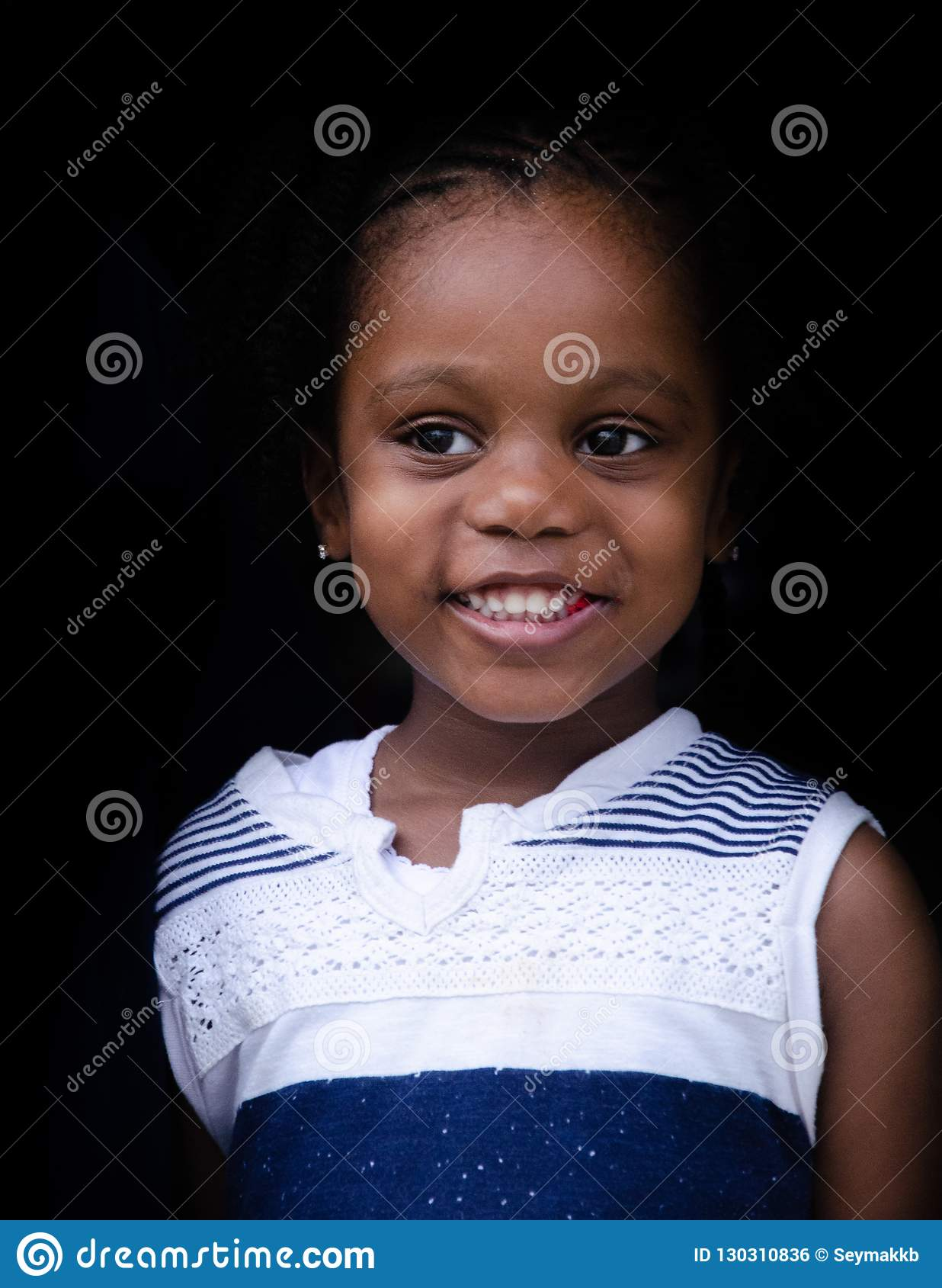 A Little Cute, Black Girl from Bahamas