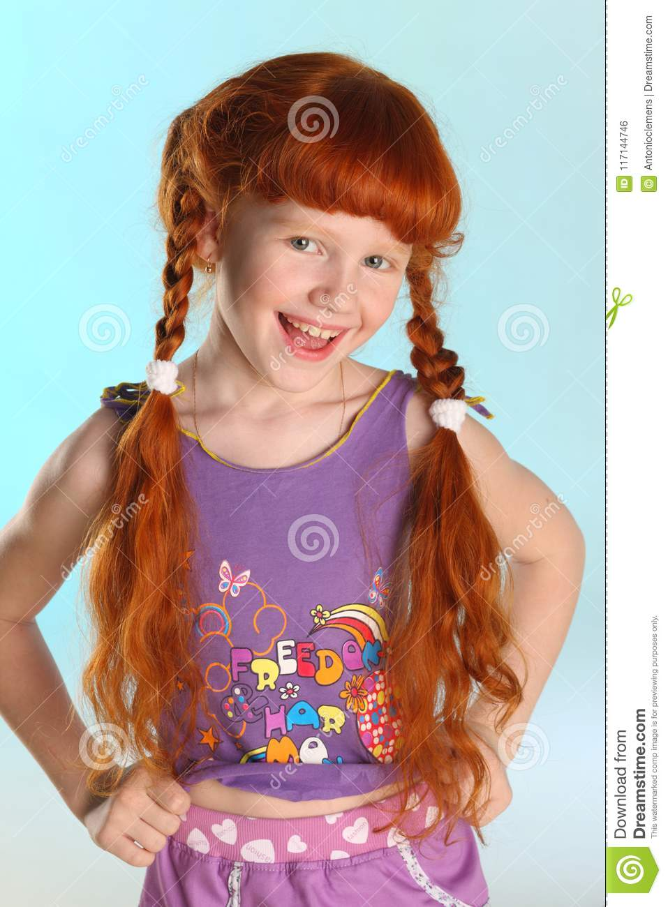 Redhead pigtails young teen girl yes consider