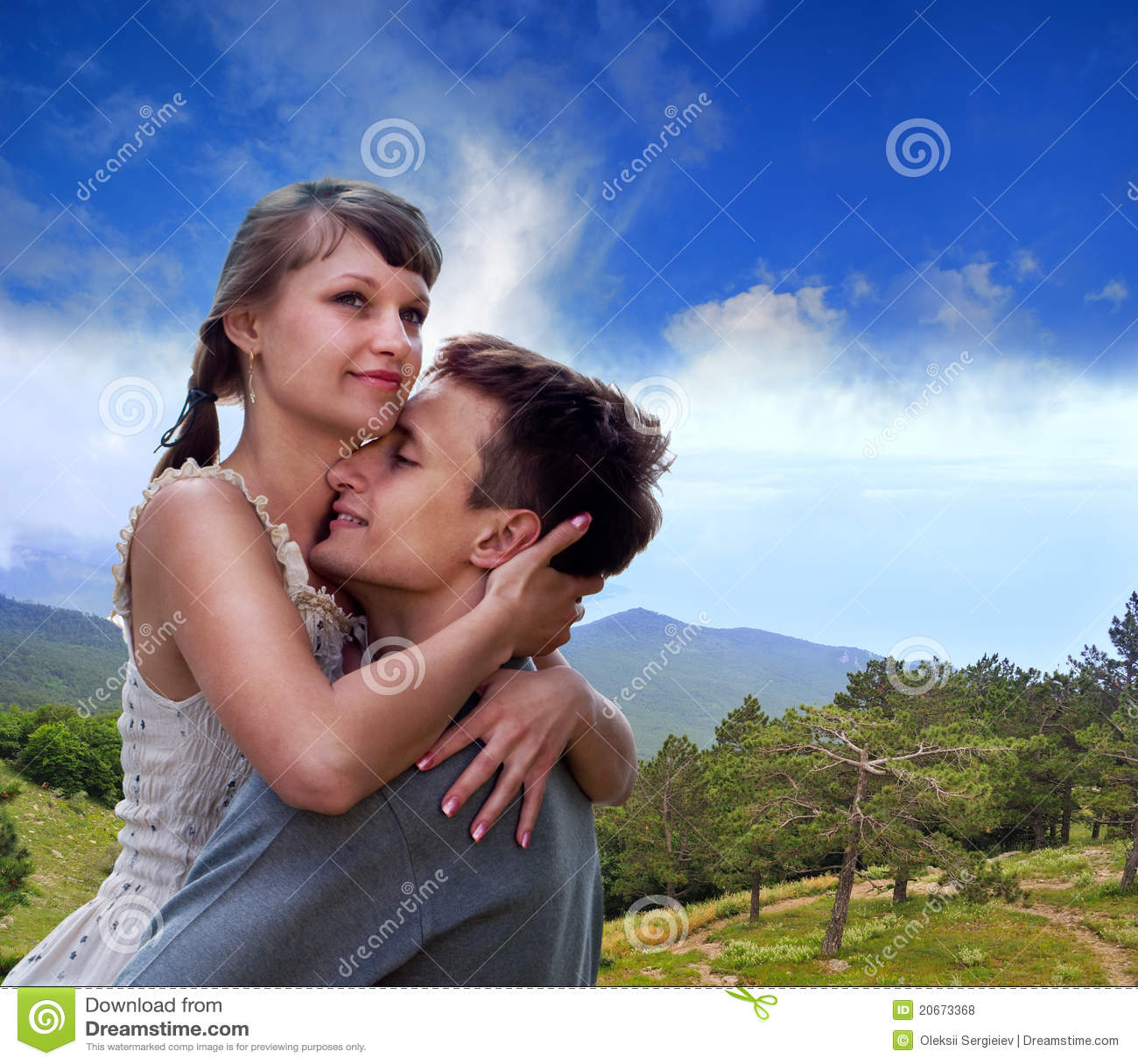 Portrait of love in nature