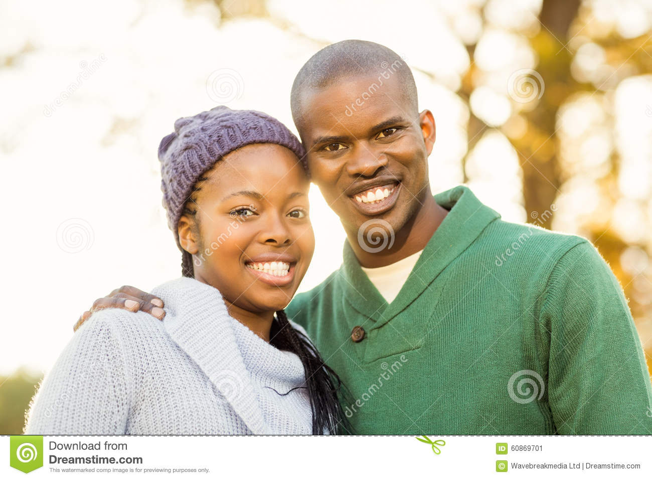 Portrait of a lovely smiling young couple