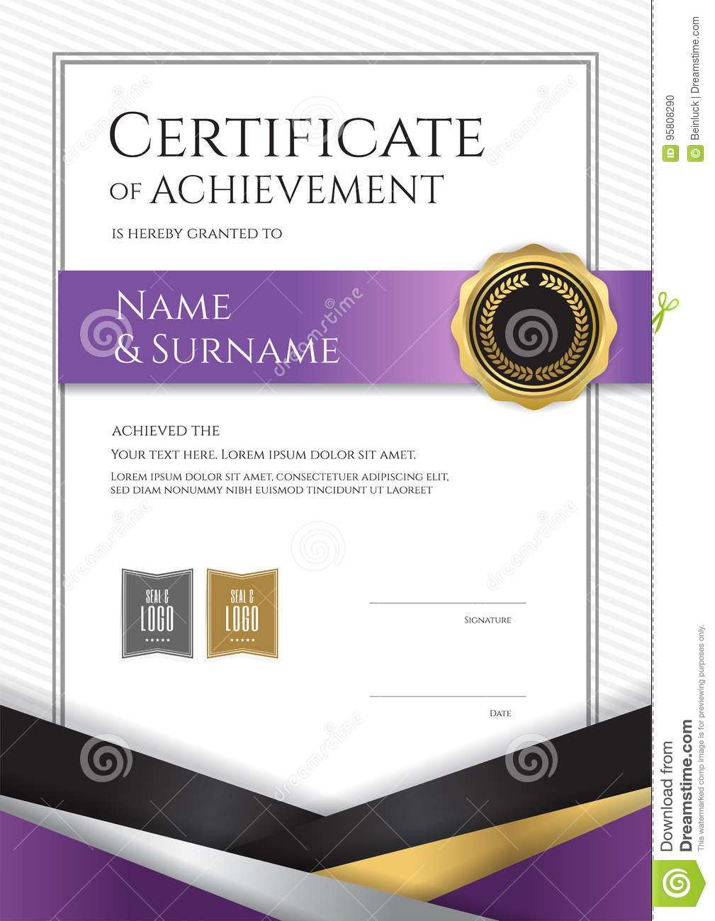 Portrait luxury certificate template with elegant border frame portrait luxury certificate template with elegant border frame royalty free vector xflitez Image collections