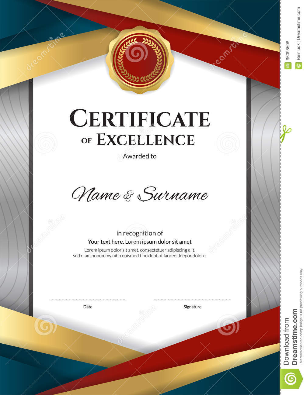 Portrait luxury certificate template with elegant border frame portrait luxury certificate template with elegant border frame background coupon yadclub Choice Image