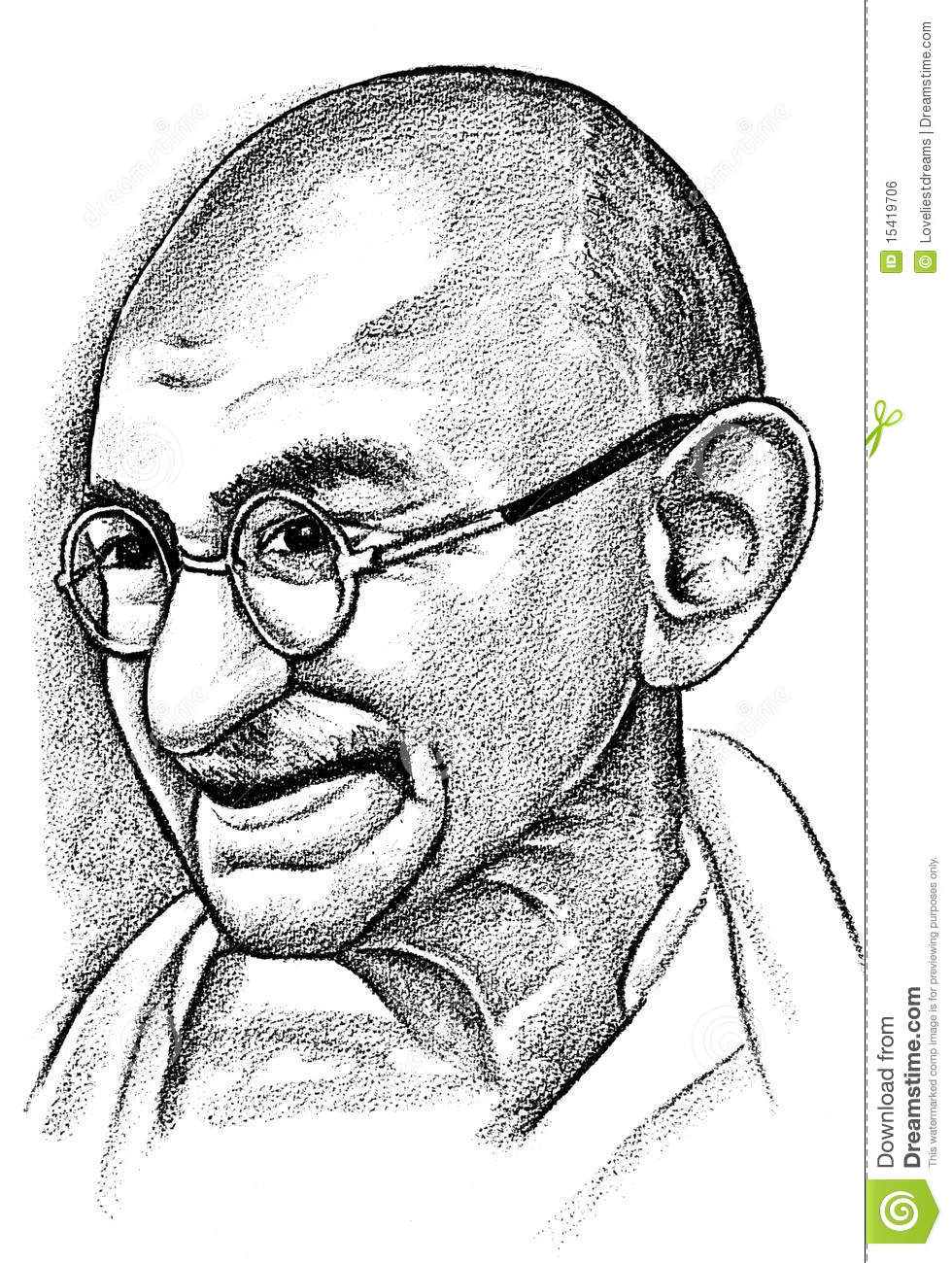 Portrait Of Mahatma Ghandi Editorial Photo Image 15419706