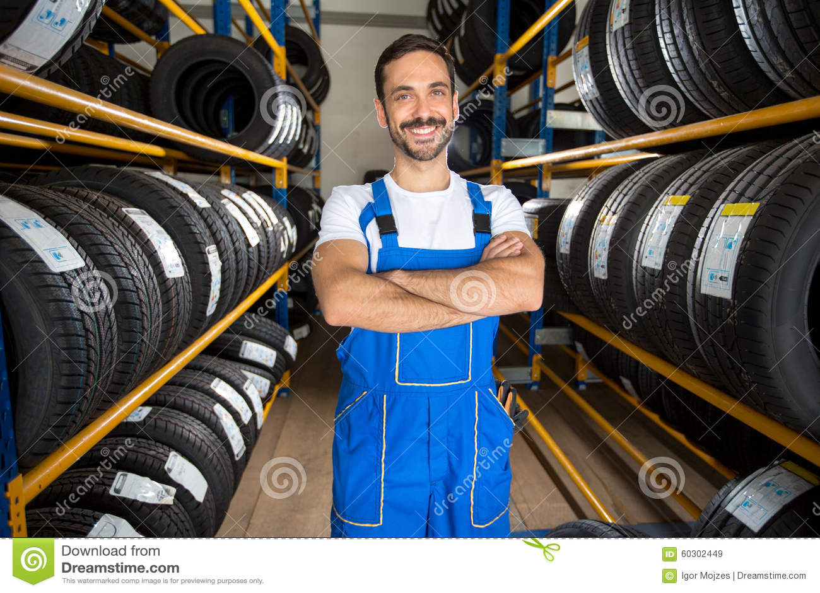 Portrait Of Male Auto Mechanic Stock Image Image 60302449