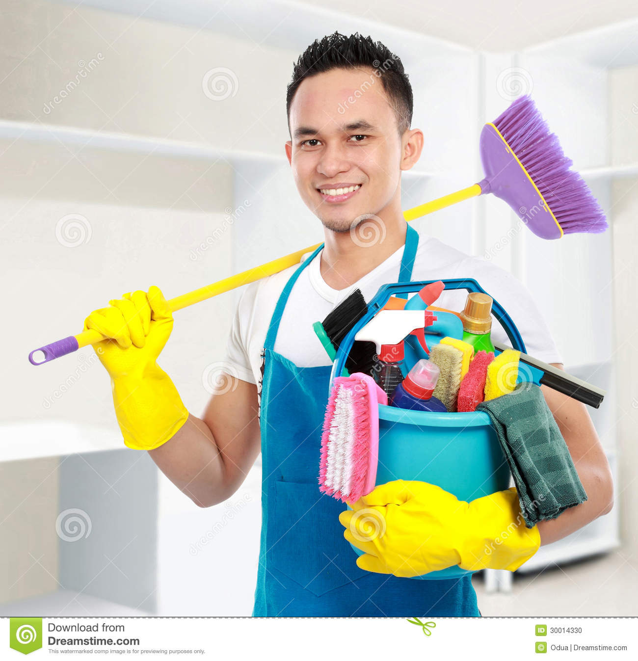 Male Cleaning Service Stock Photo Image 30014330
