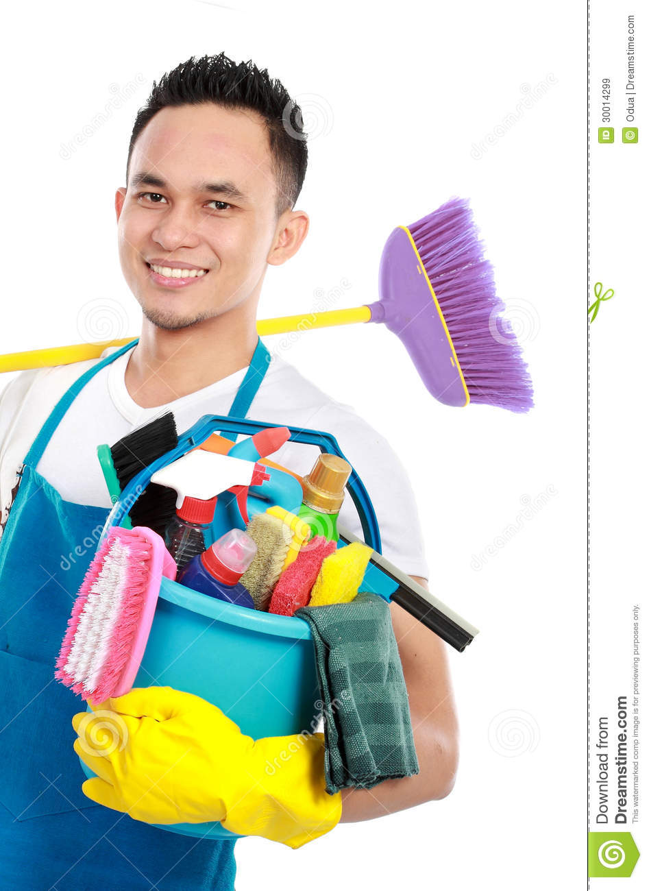 Male Cleaning Service Royalty Free Stock Images Image