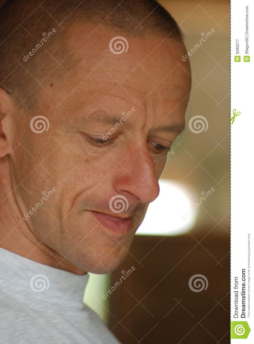 Portrait of man concentrating on his task