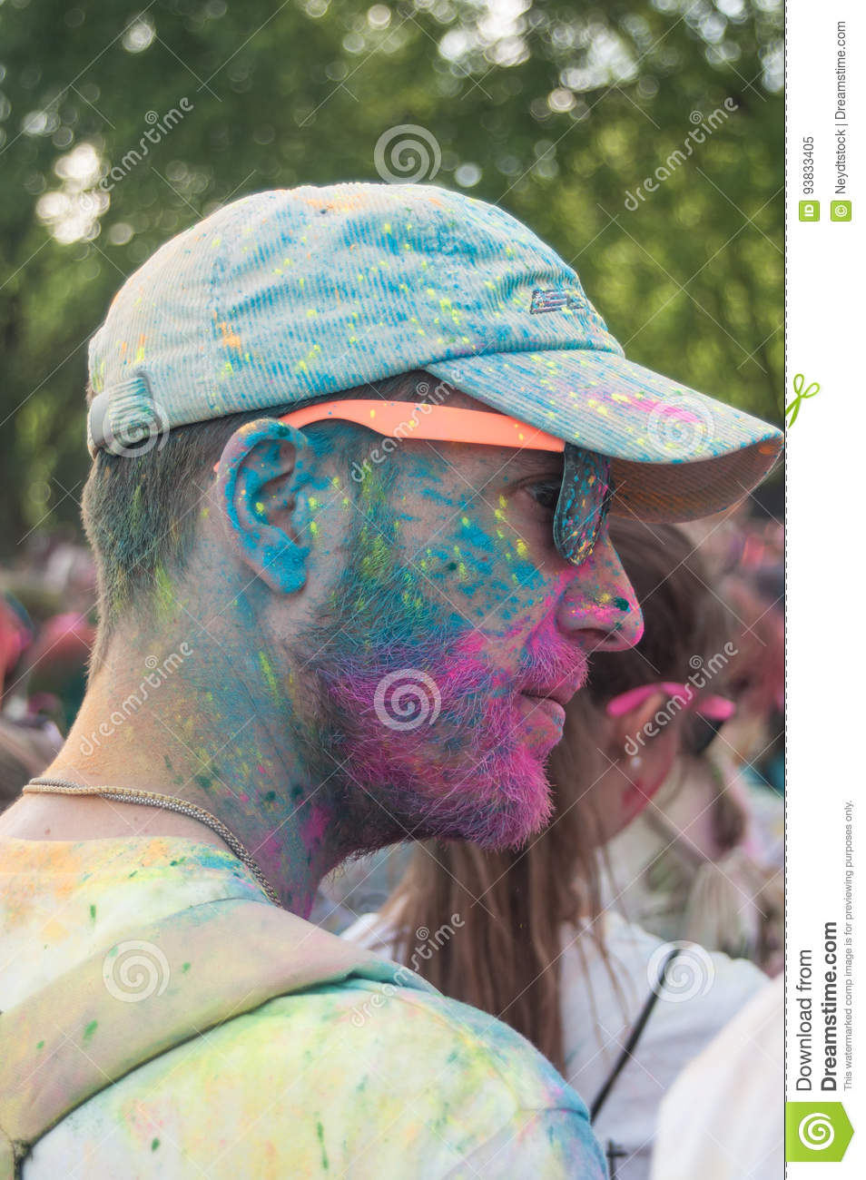 Portrait of man with hat at Colore Mulhouse 2017