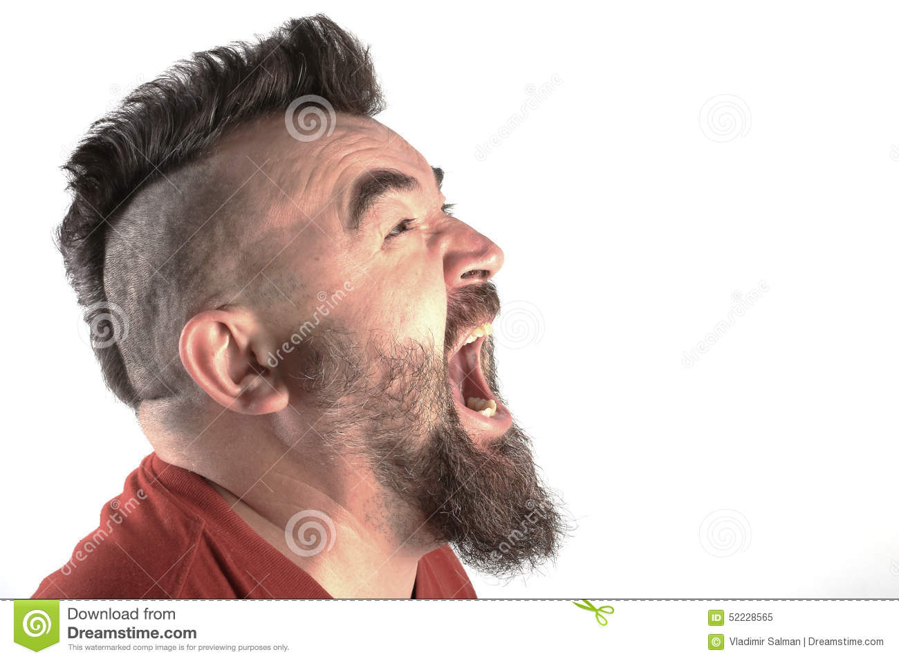 Portrait Of A Man With A Mohawk Stock Photo Image 52228565