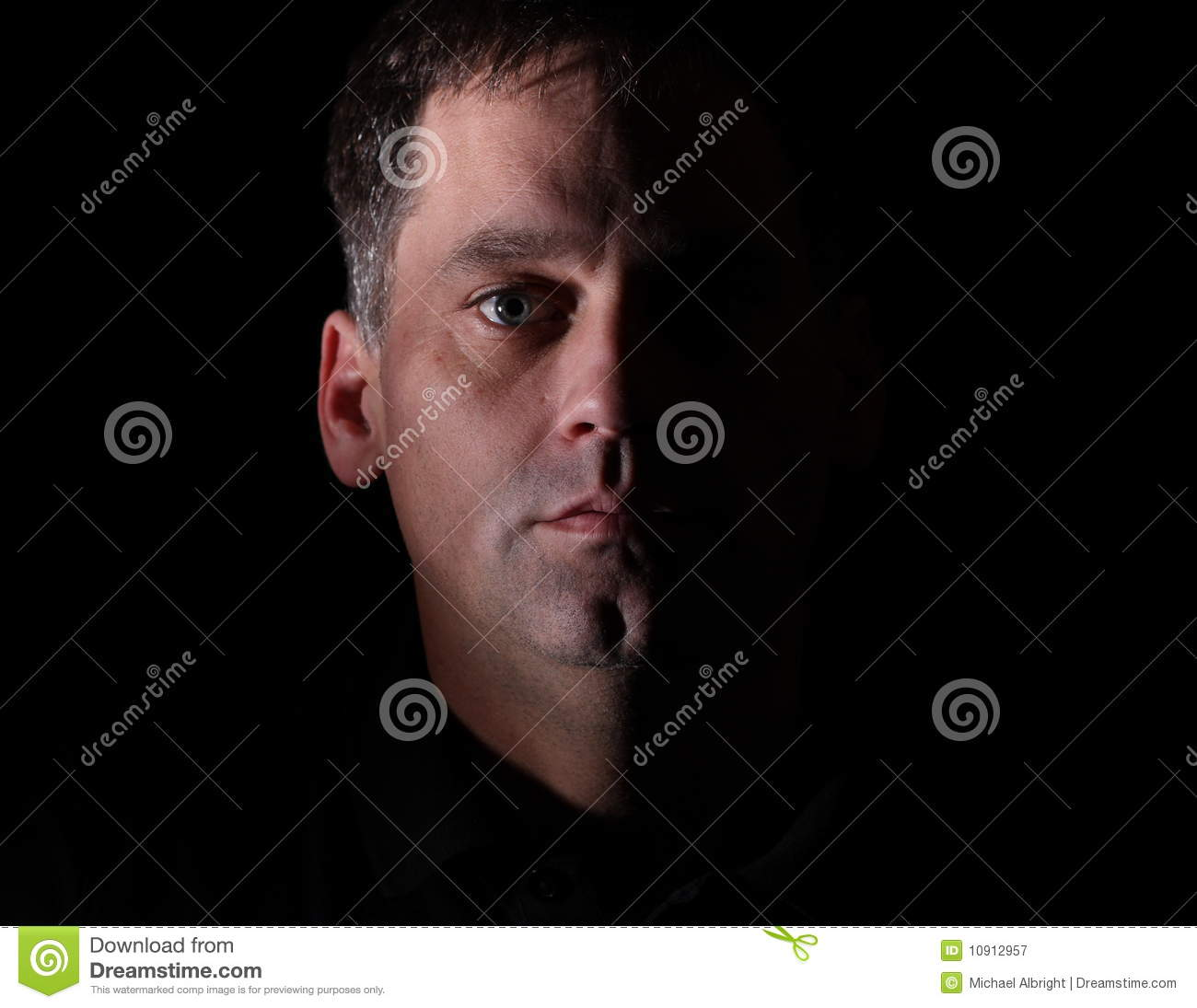 Portrait of man with serious look