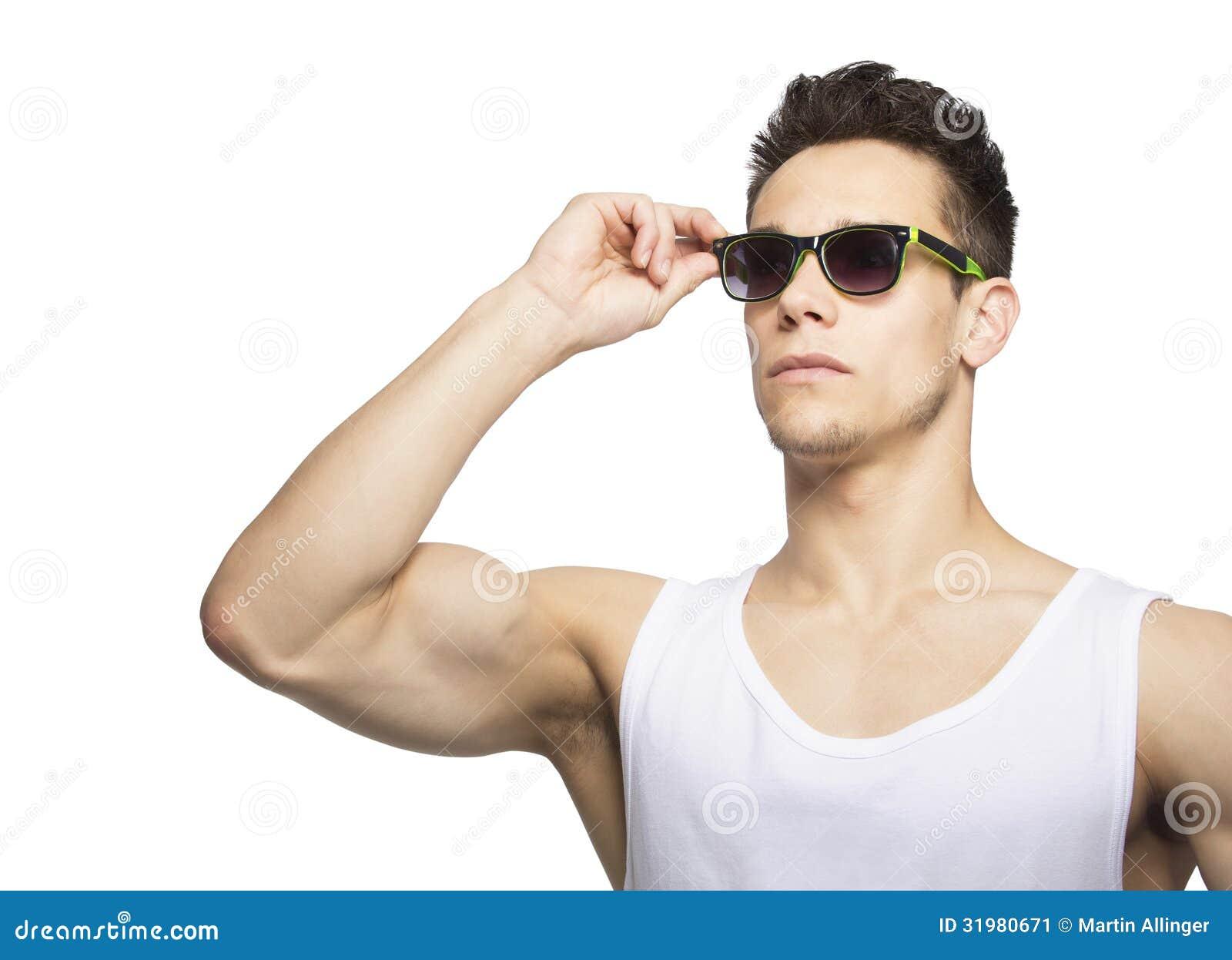 Portrait Of A Man Wearing Sunglasses Stock Image