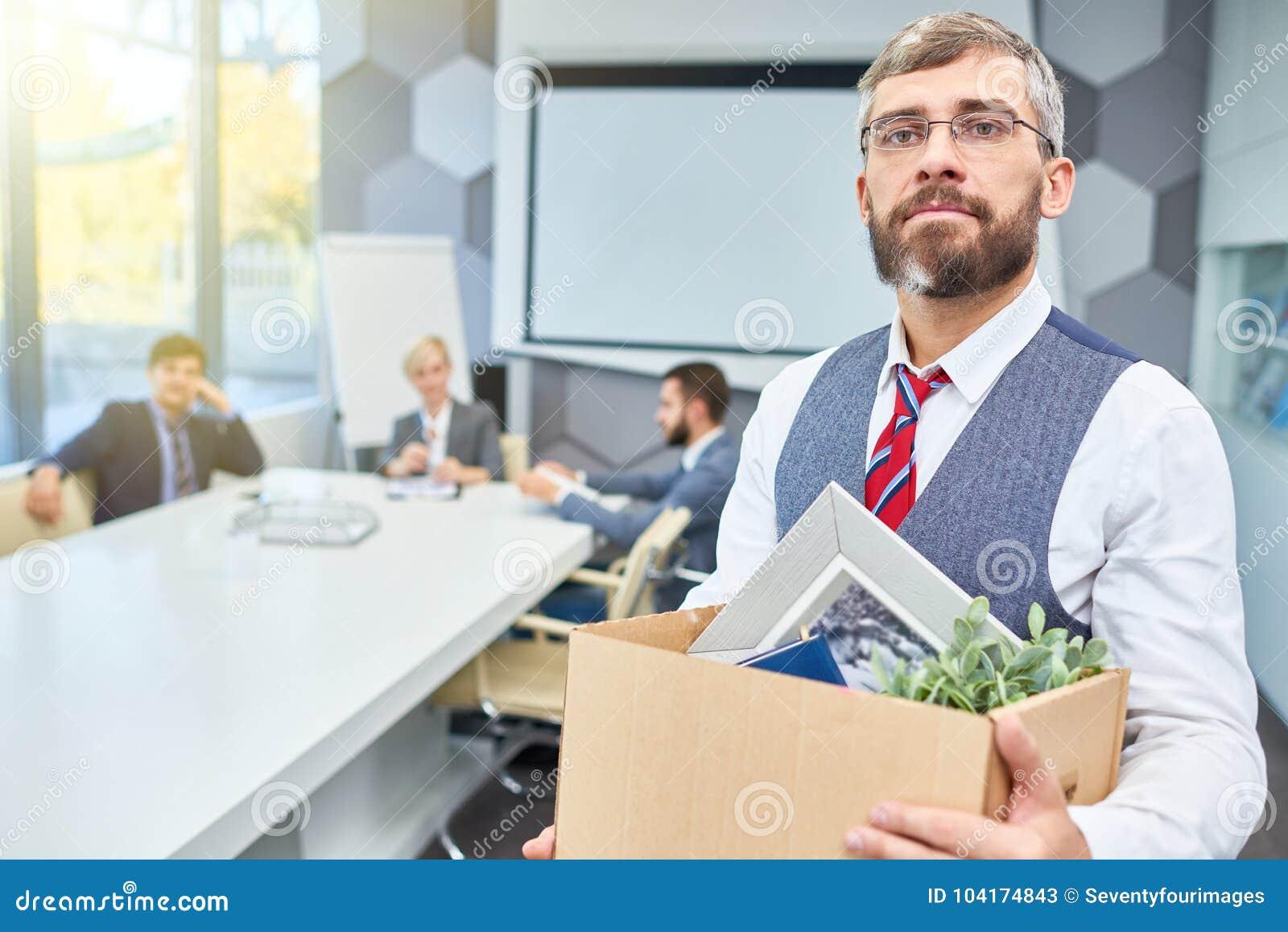 Mature Businessman Leaving his Job