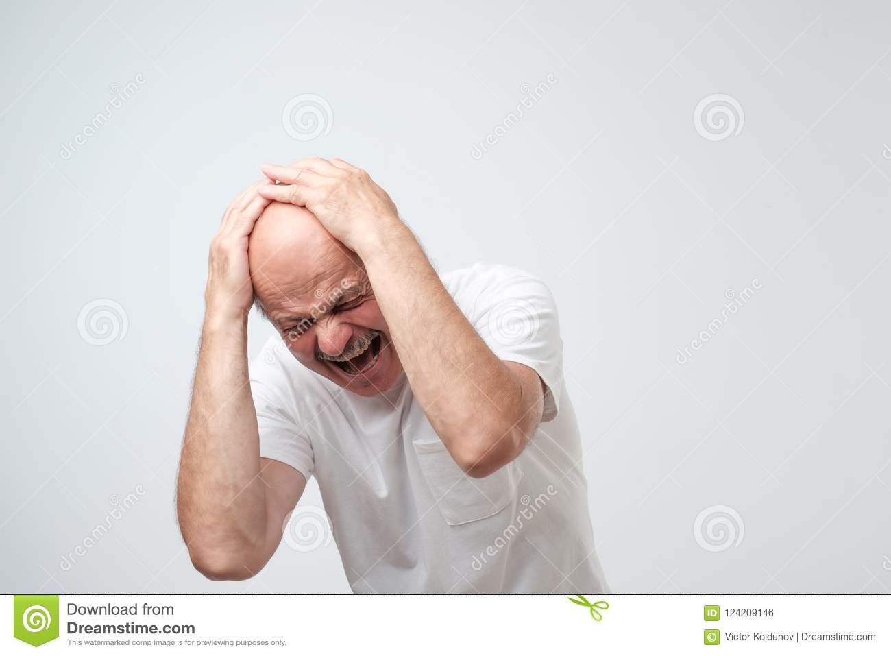 Portrait Mature Hispanic Desperate Man Holding His Head In Pain Stock Photo Image Of Holding Face 124209146 I once went to a fortune teller to get my future read. https www dreamstime com portrait mature hispanic desperate man holding his head pain standing near wall portrait mature hispanic desperate man image124209146