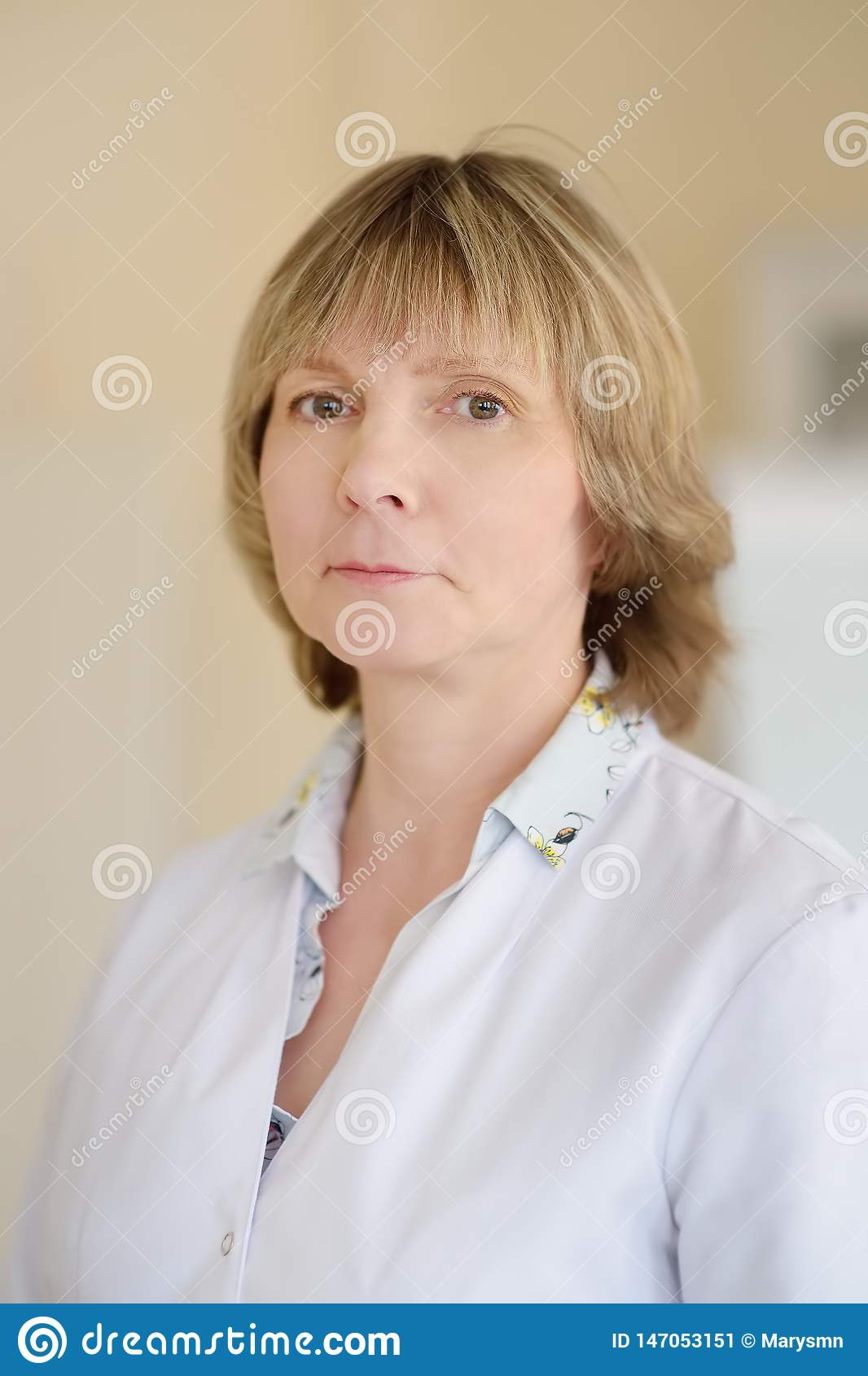 Portrait Of Mature Woman Doctor. Family Doctor. Medical ...