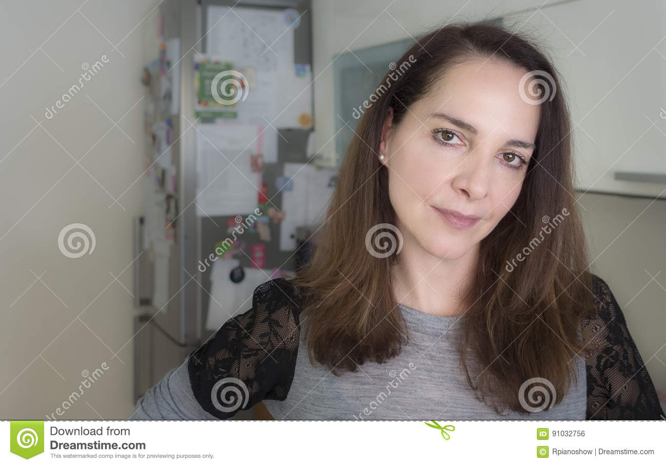 Portrait Of A Mature Woman Stock Photo Image Of Face Beautiful