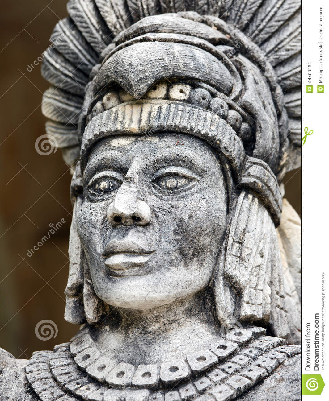 Portrait Of Mayan Warrior Stock Photo Image 44408464