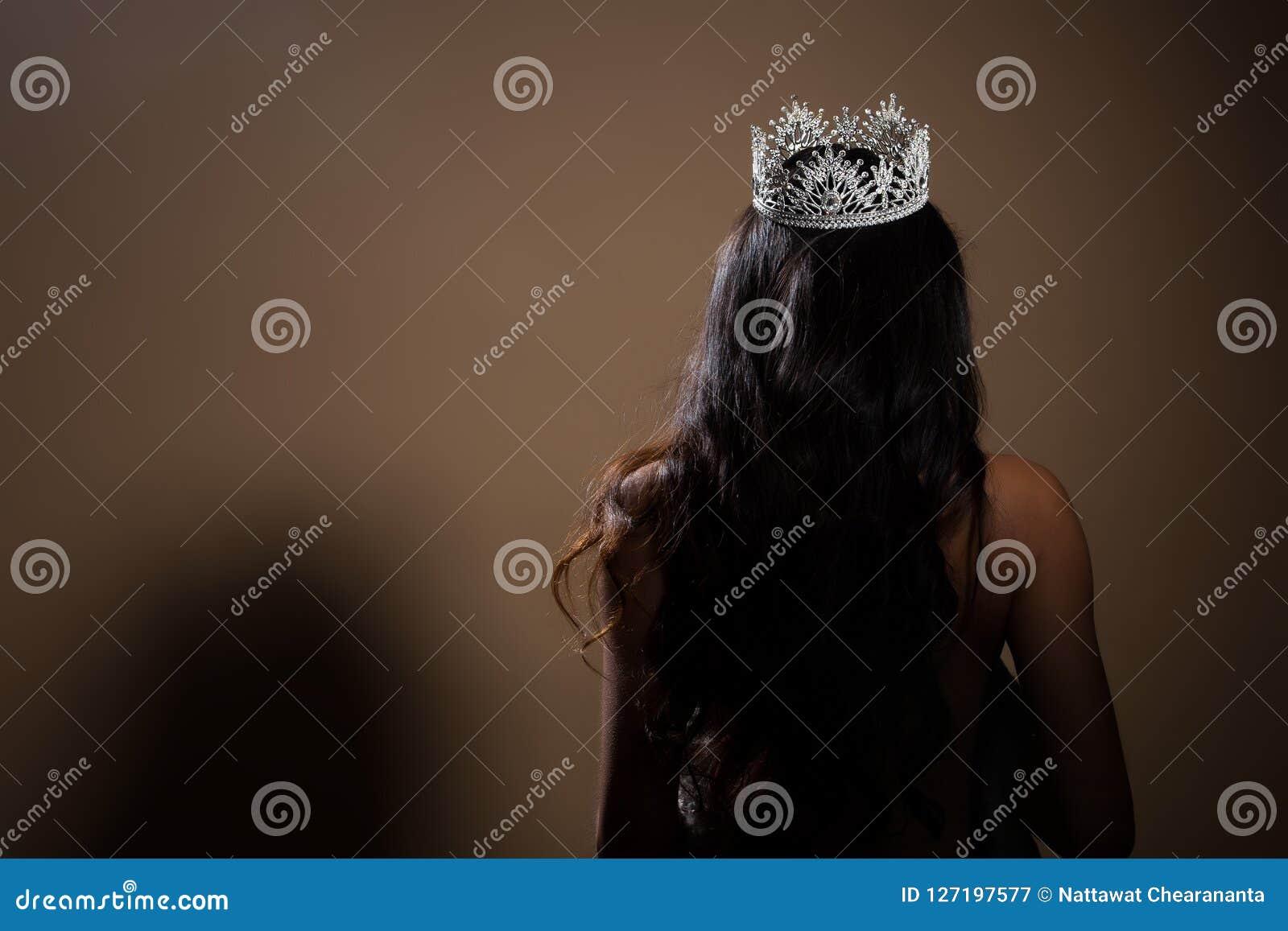 Portrait of Miss Pageant Beauty Contest Crown