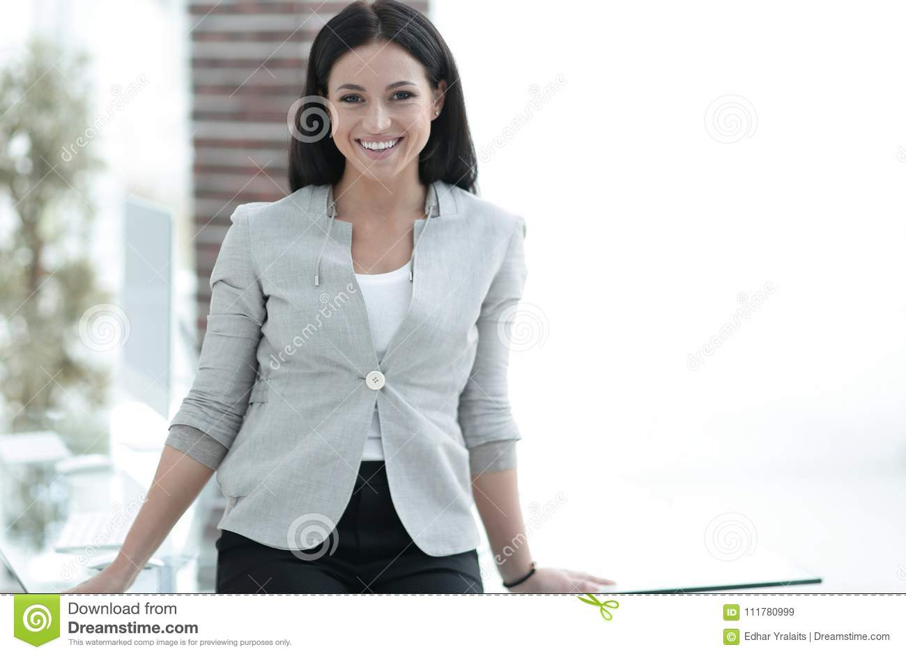 Modern young employee of the company
